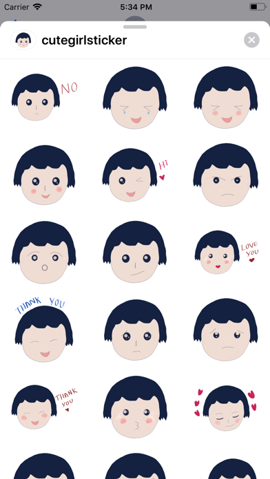 Screenshot for Cute Girl Stickers in United States App Store