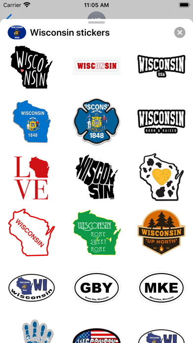 Wisconsin emoji - USA stickers screenshot 2