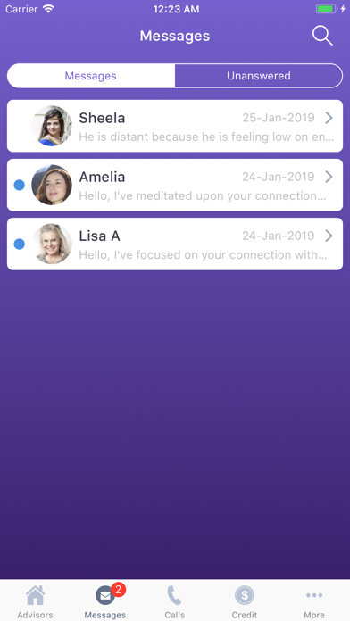 Live Psychic Chat Screenshot