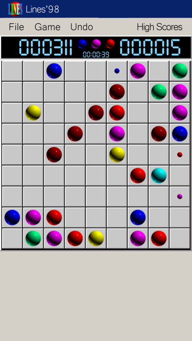 Screenshot of Line 98 Classic 1998 App