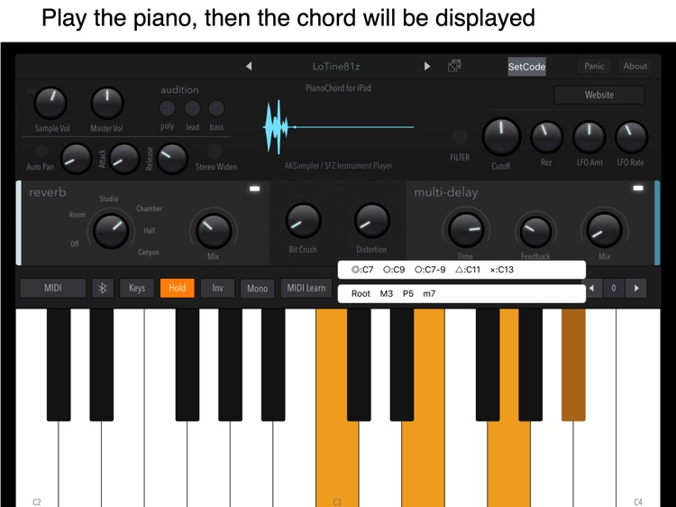 Tunable Piano Chord Judge by Yasuhiro Suzuki