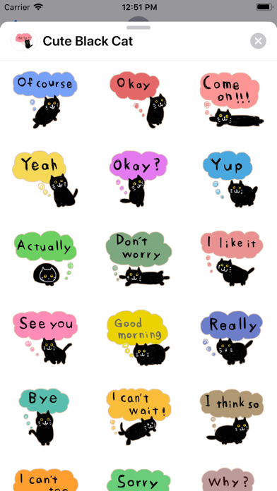 Cute Black - Cat screenshot 1