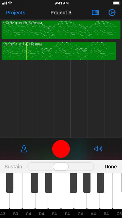 Nocturne MIDI Recorder screenshot two