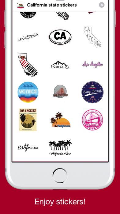California emojis USA stickers screenshot 5