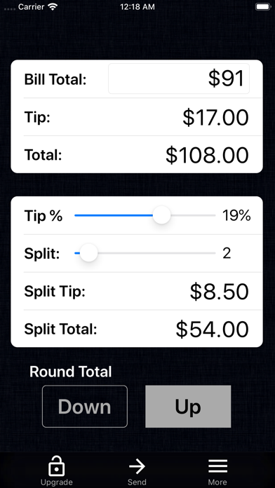 Tip Calculator % Gold screenshot two