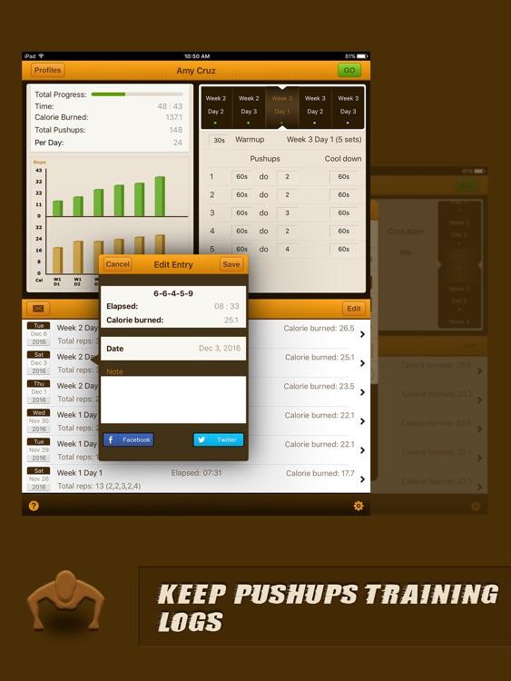 Pushups Coach Pro for iPad screenshot-3