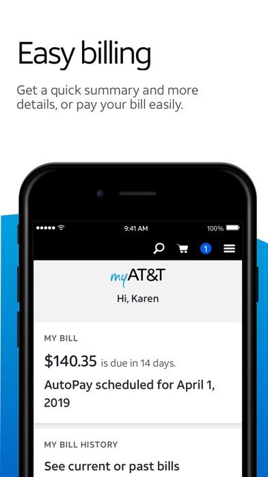 myAT&T Screenshot on iOS