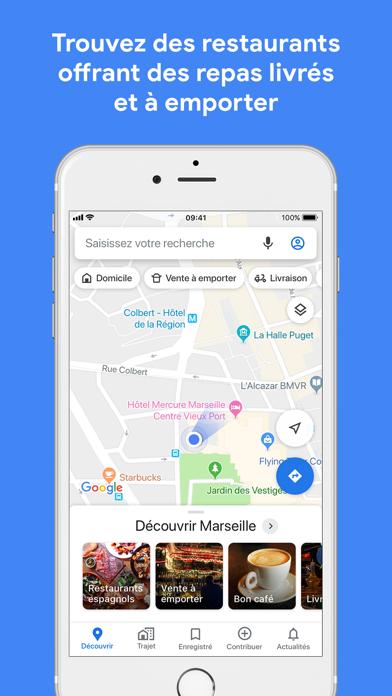 Screenshot #1 pour Google Maps - GPS & transports