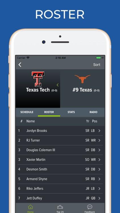 Texas Tech Football Schedules