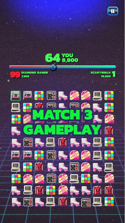 Fight Back to the 80's Match 3