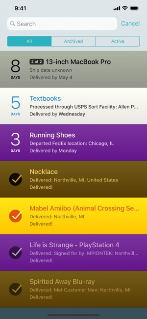 ‎Deliveries: a package tracker