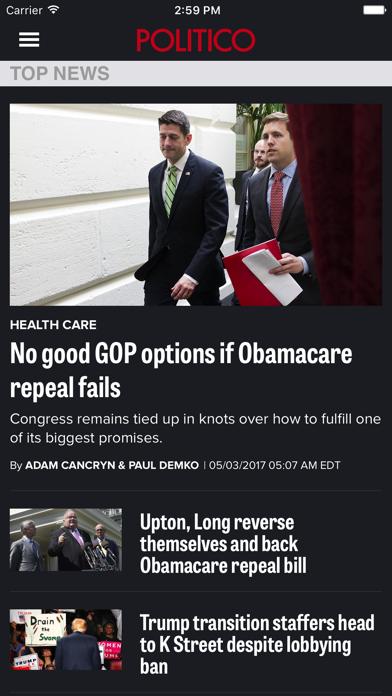 Politico review screenshots