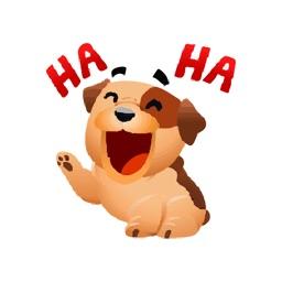Hey Puppy! Cute Love Sticker