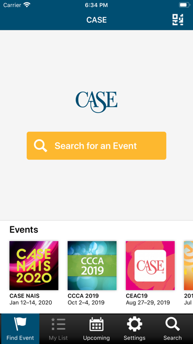 CASE Conference App screenshot one