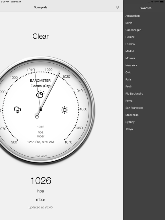 Barometer-Atmospheric pressure Screenshots