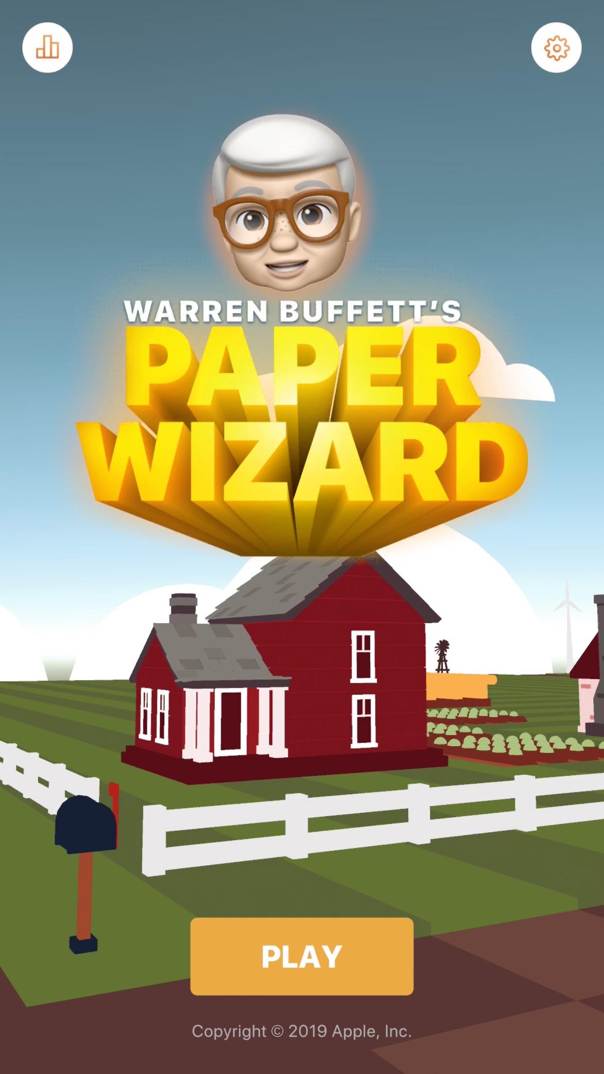 Screenshot do app Warren Buffett's Paper Wizard