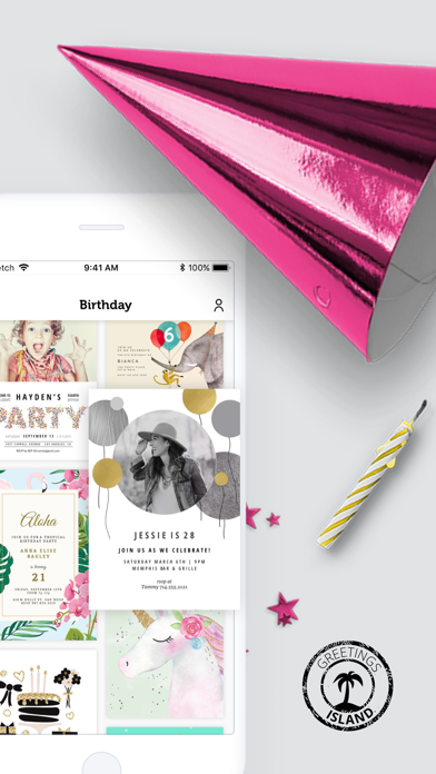 Invitation Card Maker App Screenshot on iOS