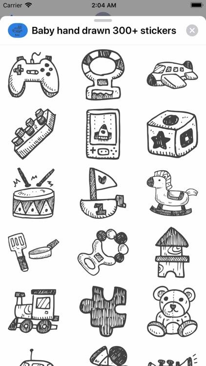 Baby hand drawn 300+ stickers screenshot-6