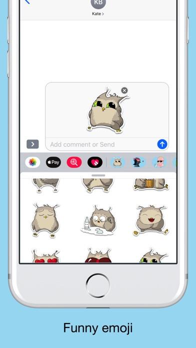 Owl emoji - Funny stickers screenshot 3