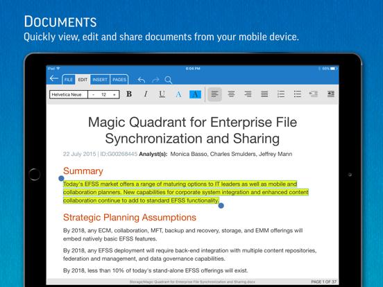SmartOffice - Document Editing iPad app afbeelding 2