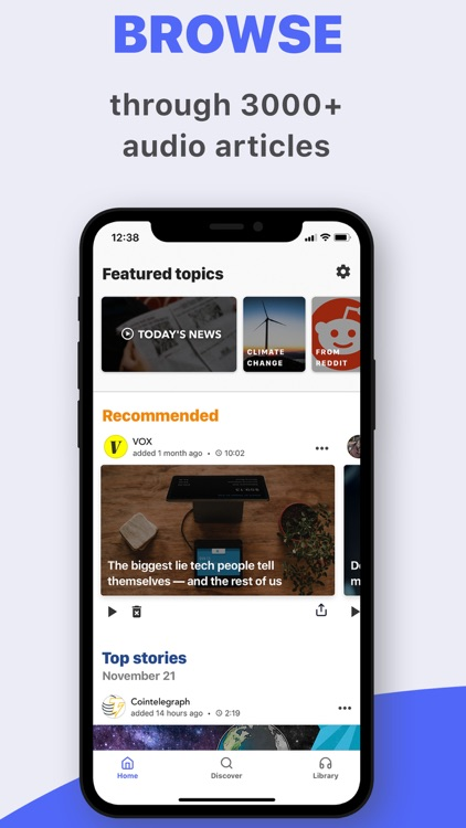 Listle - top stories, in audio