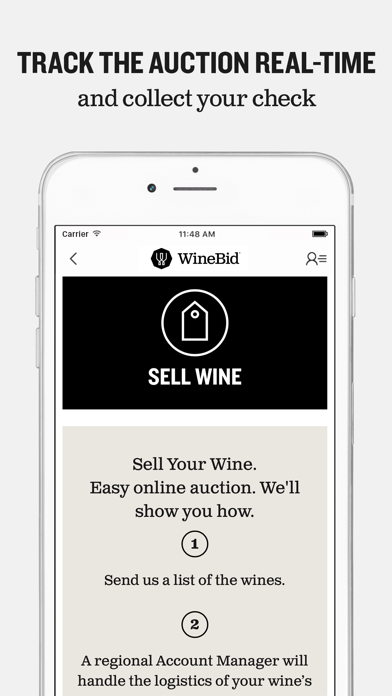 WineBid screenshot three