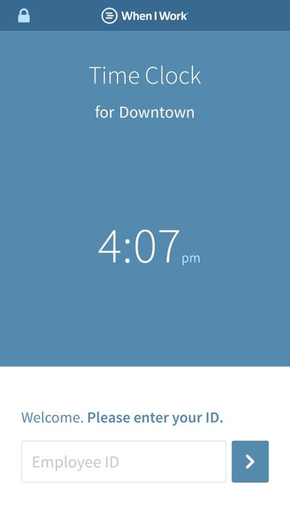 Time Clock Terminal