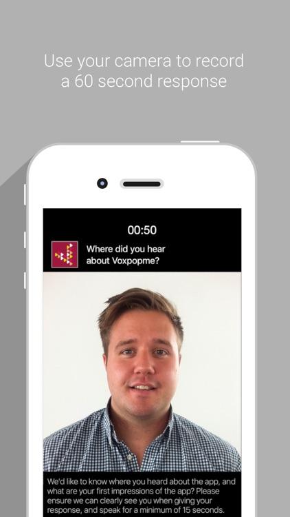 Voxpopme - Paid Video Surveys screenshot-3