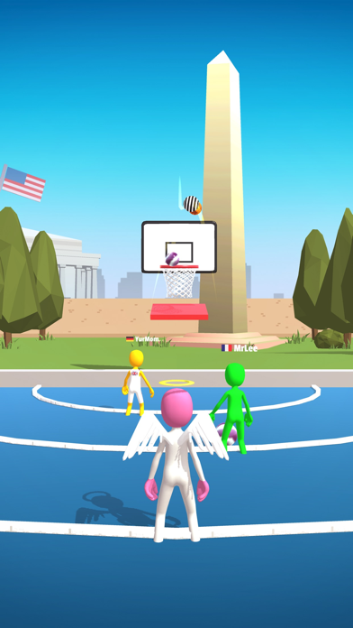 Screenshot of Five Hoops App
