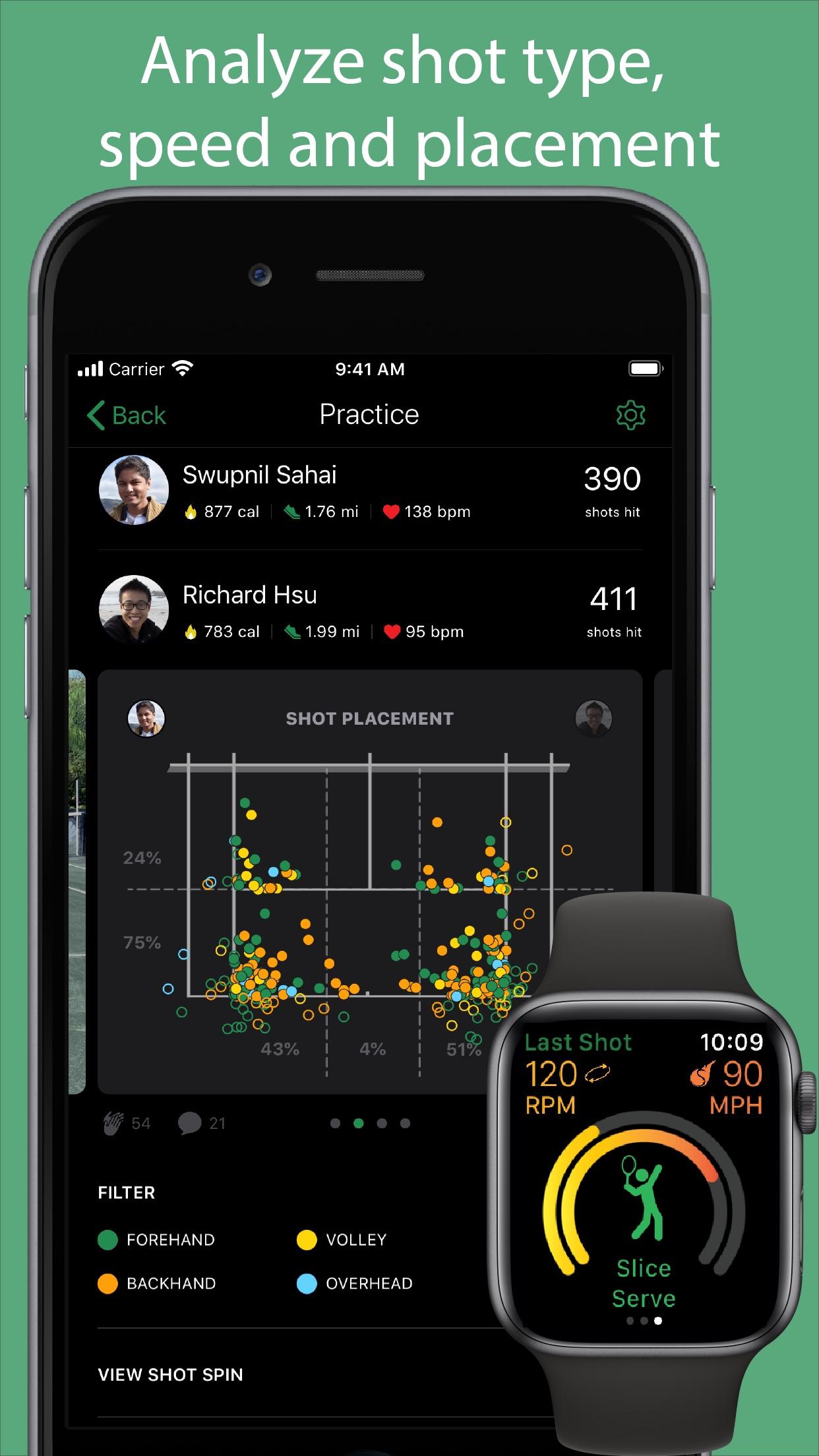 SwingVision - A.I. Tennis App Screenshot