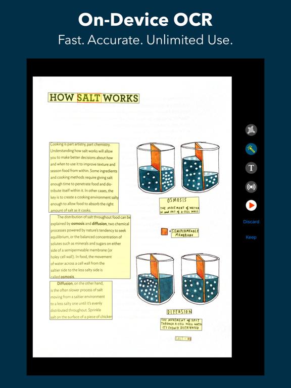 Voice Dream Scanner iPad captures décran