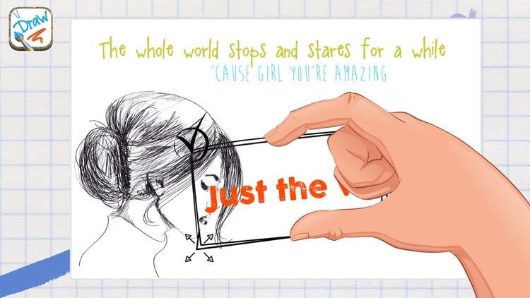 Draw on photos – Add text