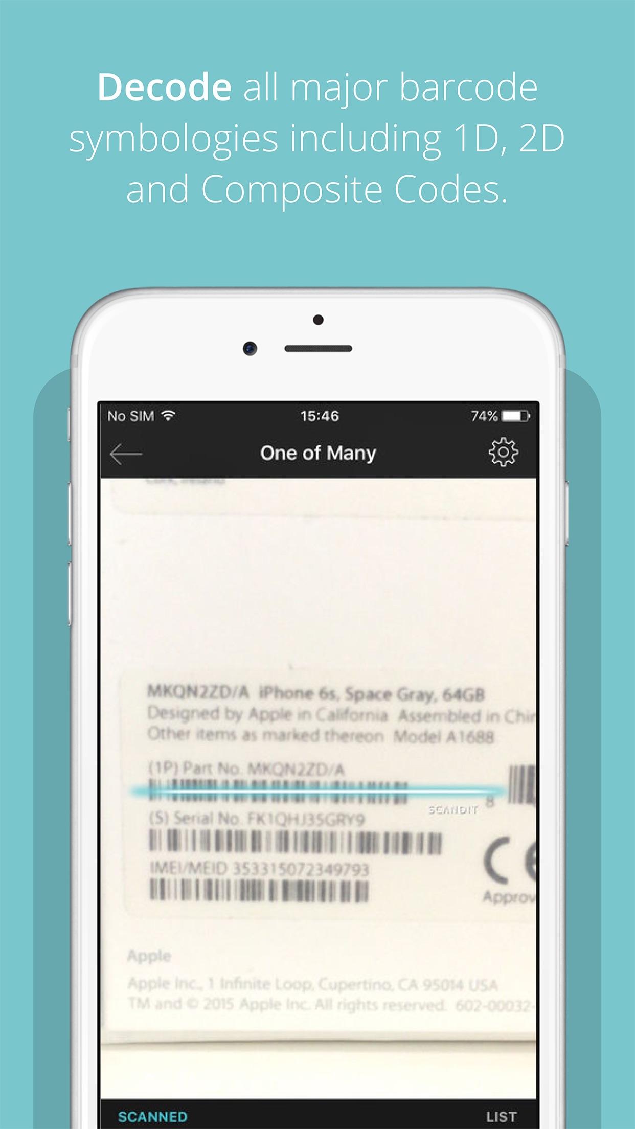 Scandit Barcode Scanner Screenshot