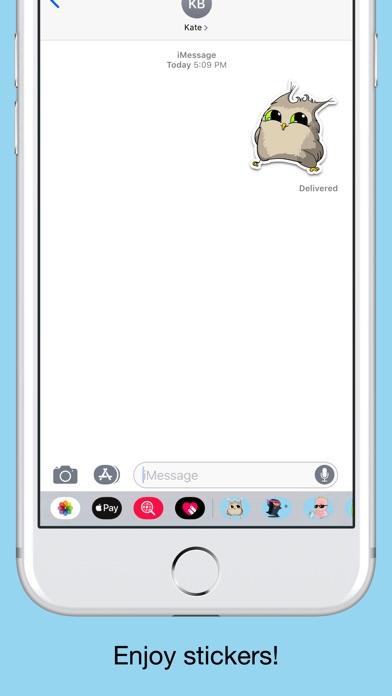 Owl emoji - Funny stickers screenshot 5