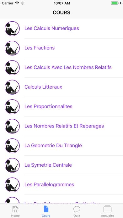 Maths 5ème screenshot 4