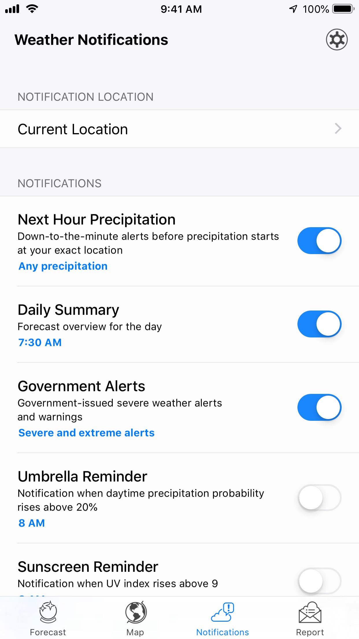 Screenshot do app Dark Sky Weather