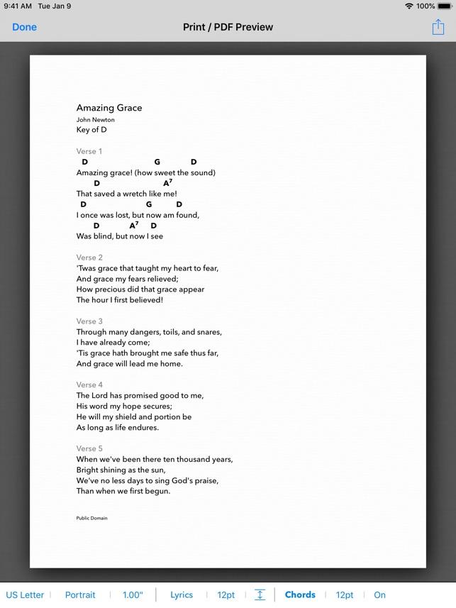 Worship chord chart app
