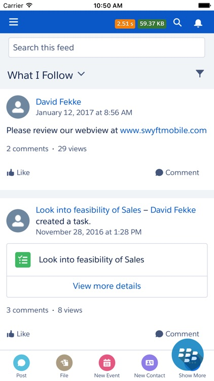 Swyft Mobile for Salesforce