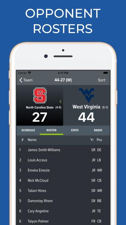 West Virginia Football screenshot-8