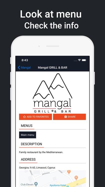 Look at menu