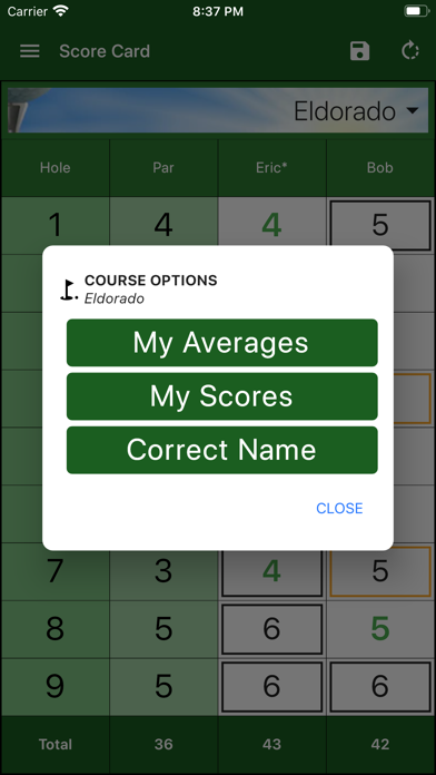 messages.download EasyScore Golf Scorecard software