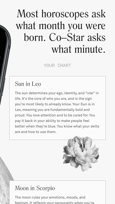 Co–Star Personalized Astrology Screenshot