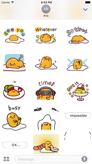 Animated Gudetama Egg Sticker screenshot 3
