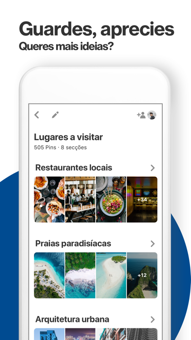 Screenshot for Pinterest in Portugal App Store