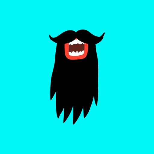 Vikings Funny Stache Stickers