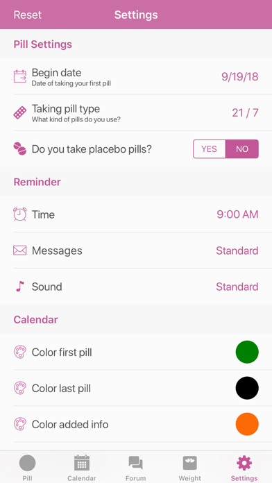 Screenshot for BC Pill Reminder in Netherlands App Store