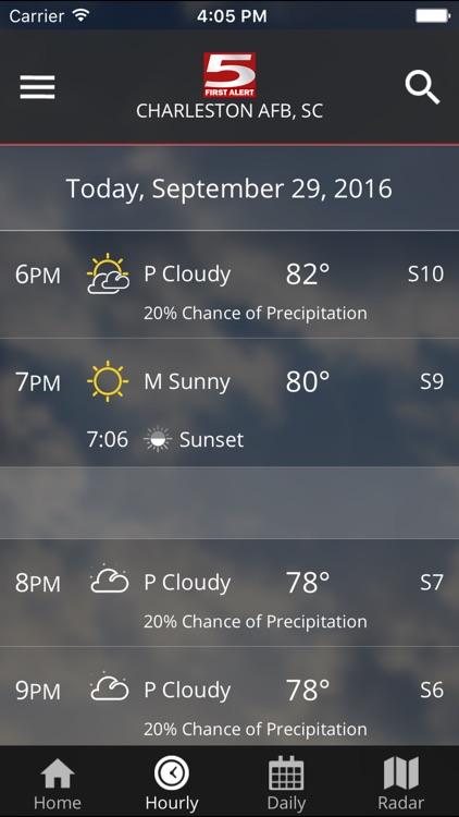 WCSC Live 5 Weather screenshot-3