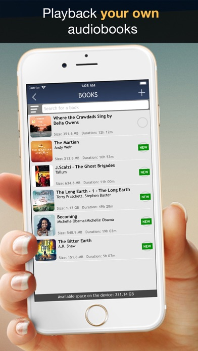 MP3 Audiobook Player - listening to audio books while walking or jogging! Screenshot 3