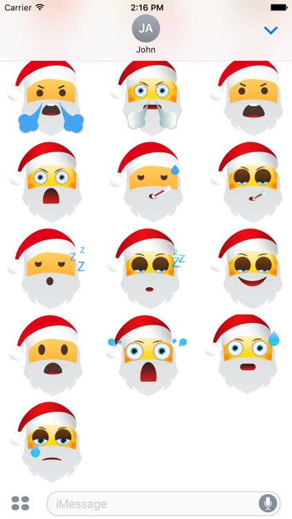 Santa Says eMoji Stickers