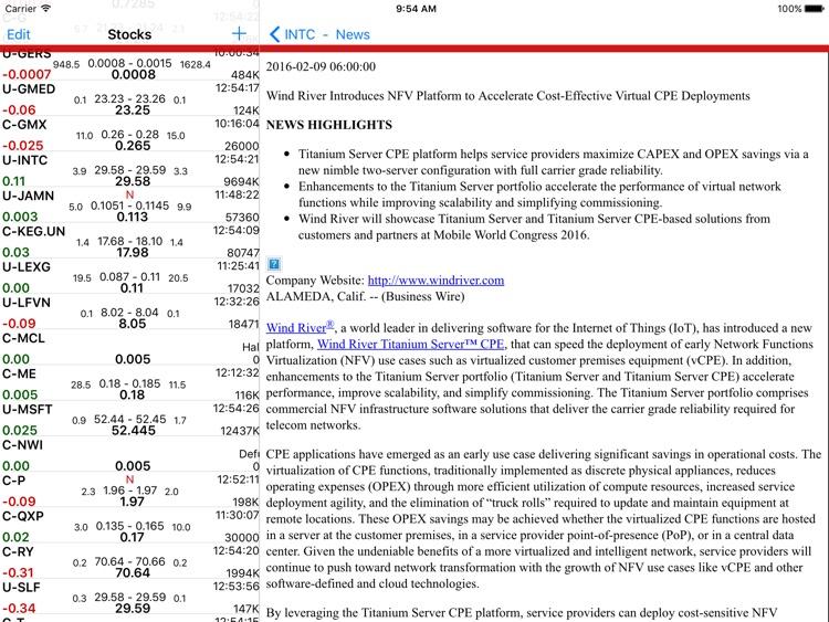 Stockwatch Ticker - HD screenshot-4